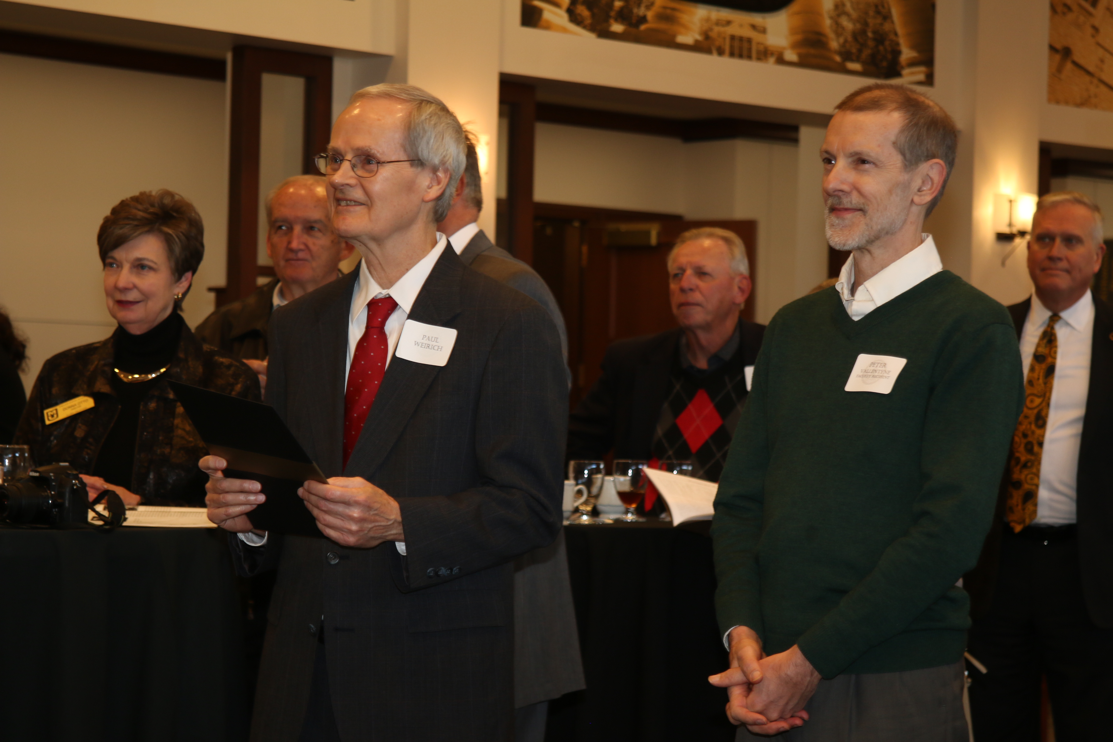 Dr. Peter Vallentyne and Dr. Paul Weirich at the Faculty-Alumni Awards